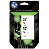 Оригинальный картридж HP C9503AE (Сдвоенная упаковка трёхцветных картр.№57)