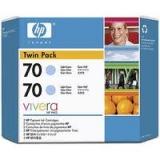 Оригинальный картридж HP CB351A (Сдвоенная упаковка светло-голубых картр. №70)
