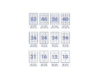Наклейки А4, 100 листов, 105*35 (16 делений)