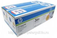 Оригинальный картридж HP CB436AF (Сдвоенная упаковка чёрных картр. CB436A)