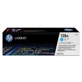Оригинальный картридж HP CE321A голубой картридж